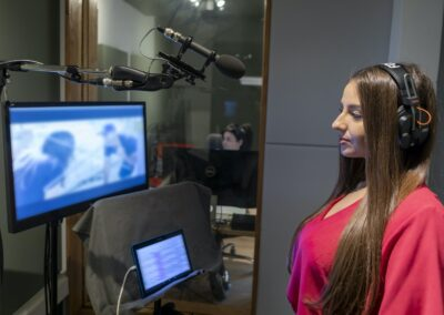Audio Design Digital Art's Studio 1 - Actor recording Romanian language dubbing or Voice Over