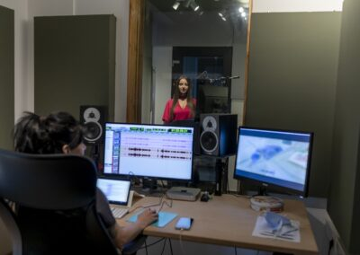 Audio Design Digital Art's Control Room for recording Romanian language dubbing and Voice Over